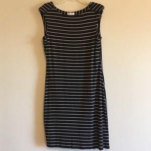 Calvin Klein Striped Stretch Sleeveless Knit Dress